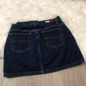 Tommy Hilfiger Skirts - Tommy Jeans Dark Wash Big Logo Mini Skirt Size 3